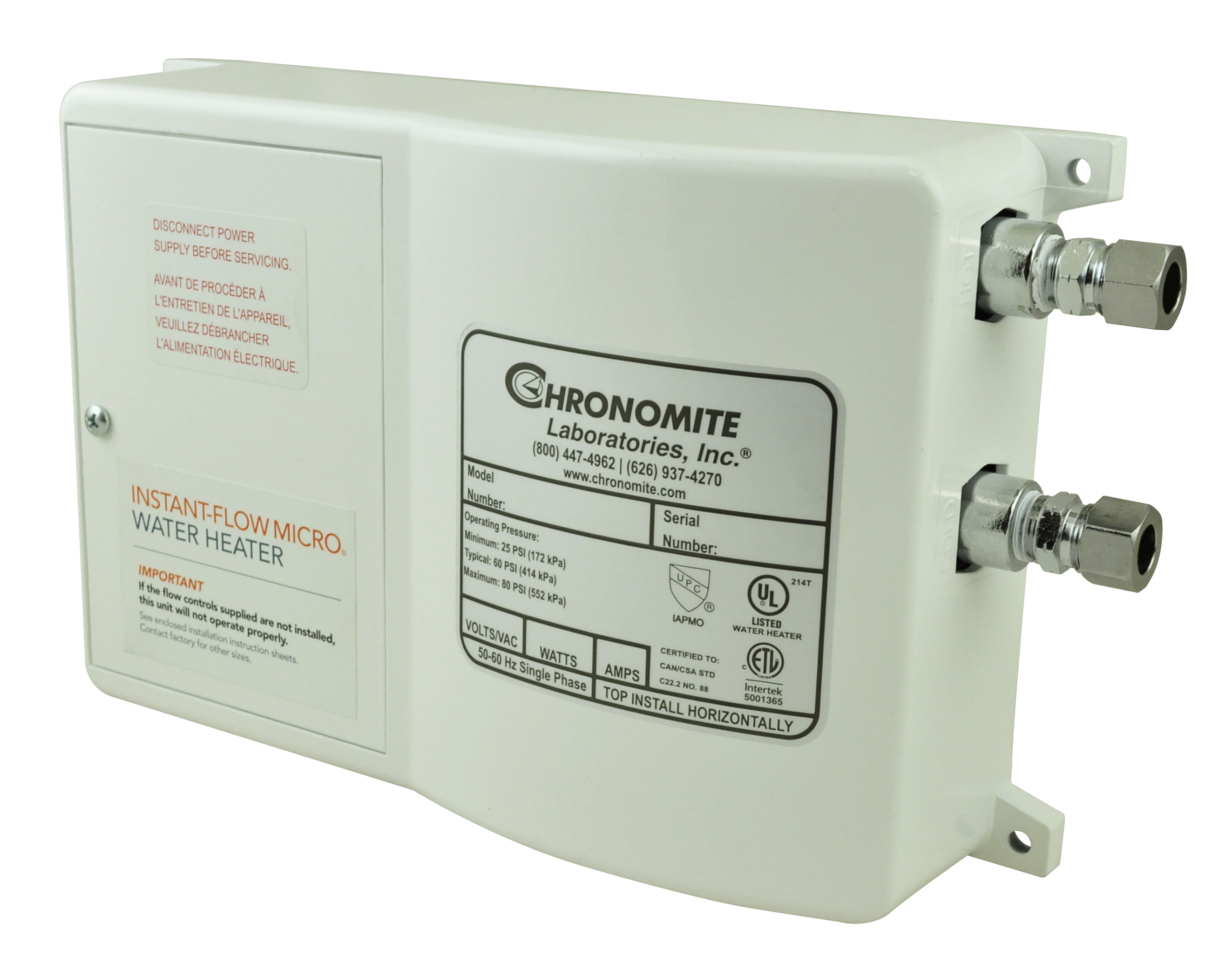 Instantaneous Water Heater >> Instant Flow Micro Water Heater Chronomite
